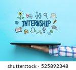 internship concept with a...   Shutterstock . vector #525892348