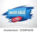 winter sale banner | Shutterstock .eps vector #525894658