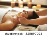 spa concept. young woman...   Shutterstock . vector #525897025