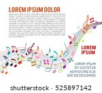 color music notes on a solide... | Shutterstock .eps vector #525897142