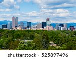 skyscrapers in downtown denver  ... | Shutterstock . vector #525897496
