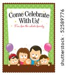 ltr size  8.5x11in  flyer...   Shutterstock .eps vector #52589776