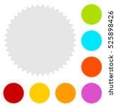 starburst  sunburst badge shape ... | Shutterstock . vector #525898426