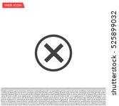 delete icon. cross sign in... | Shutterstock .eps vector #525899032