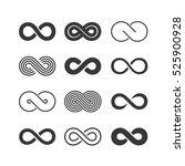 infinity symbols set | Shutterstock .eps vector #525900928