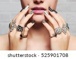 woman's hands with jewelry...