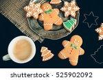 beautiful christmas background... | Shutterstock . vector #525902092