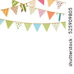 background with colorful... | Shutterstock .eps vector #525909805