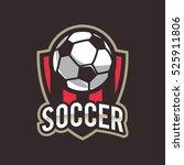 soccer logo  american logo... | Shutterstock .eps vector #525911806