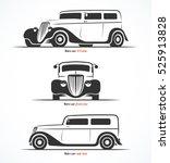 set of retro car silhouettes.... | Shutterstock .eps vector #525913828