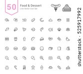 food and dessert icon set. 50... | Shutterstock .eps vector #525917992