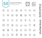 general and office icon set. 50 ... | Shutterstock .eps vector #525919912
