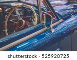 vintage classic car with mirror ... | Shutterstock . vector #525920725
