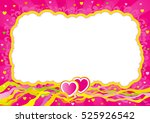 valentines card at retro style. ... | Shutterstock . vector #525926542