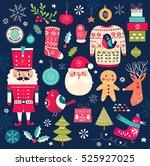 christmas collection. vector... | Shutterstock .eps vector #525927025