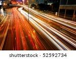 blurs of night city traffic... | Shutterstock . vector #52592734