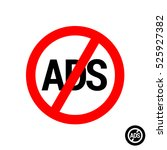 no ads icon. remove... | Shutterstock .eps vector #525927382