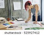 design studio architect... | Shutterstock . vector #525927412