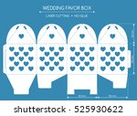 openwork favor box with a lace... | Shutterstock .eps vector #525930622