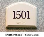 hotel door number  close up... | Shutterstock . vector #52593358
