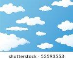 clouds | Shutterstock .eps vector #52593553