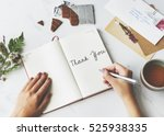 thank you appreciate gratitude... | Shutterstock . vector #525938335