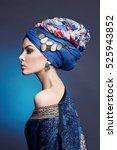 portrait of young beautiful... | Shutterstock . vector #525943852