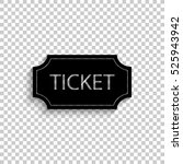 ticket   black vector  icon... | Shutterstock .eps vector #525943942