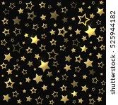 gold shine stars seamless... | Shutterstock . vector #525944182