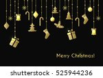 christmas greeting card with... | Shutterstock . vector #525944236
