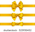set of decorative golden bows... | Shutterstock .eps vector #525950452
