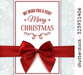 we wish you merry christmas... | Shutterstock .eps vector #525951406