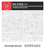 big icon set clean vector | Shutterstock .eps vector #525951652