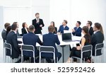 business people in a conference ... | Shutterstock . vector #525952426