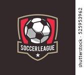 soccer logo  american logo... | Shutterstock .eps vector #525953962