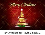 christmas background with... | Shutterstock . vector #525955012