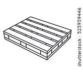 wooden pallet black symbol... | Shutterstock .eps vector #525959446