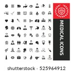 medical icon set  vector | Shutterstock .eps vector #525964912