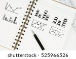 drawing bar chart and other... | Shutterstock . vector #525966526