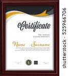 certificate template letter... | Shutterstock .eps vector #525966706