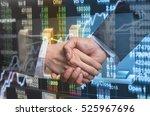 hand shake between businessman...   Shutterstock . vector #525967696