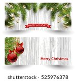 christmas design with fir tree... | Shutterstock .eps vector #525976378