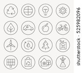 ecology thin line icon set | Shutterstock .eps vector #525982096