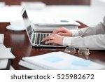 close up of business woman... | Shutterstock . vector #525982672