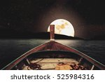 Traveling On Wooden Boat At...