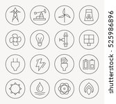 energy thin line icon set | Shutterstock .eps vector #525986896