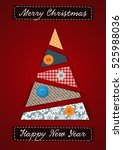 merry christmas and happy new... | Shutterstock .eps vector #525988036