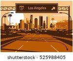 los angeles skyline   Shutterstock .eps vector #525988405