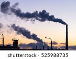 the thick smoke belching from... | Shutterstock . vector #525988735