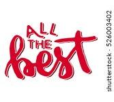 all the best hand lettering... | Shutterstock .eps vector #526003402